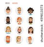 avatars business people. vector ... | Shutterstock .eps vector #459813373