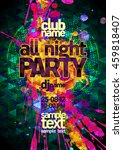 all night party abstract poster ... | Shutterstock .eps vector #459818407