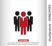 team work icon.vector... | Shutterstock .eps vector #459819493