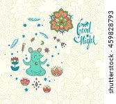 good night. vector illustration ... | Shutterstock .eps vector #459828793