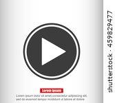 play button web icon | Shutterstock .eps vector #459829477