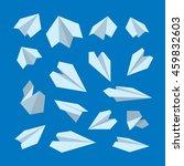 vector icon set of origami... | Shutterstock .eps vector #459832603