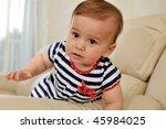 baby girl portrait   Shutterstock . vector #45984025