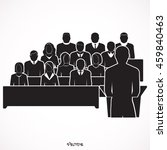conference. speaker icon.... | Shutterstock .eps vector #459840463