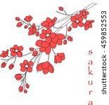 vector illustration. branch of... | Shutterstock .eps vector #459852553