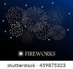 Golden Firework Show On Night...