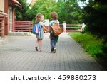young students  boy and girl ... | Shutterstock . vector #459880273