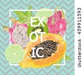 bright  juicy  color  summer ... | Shutterstock .eps vector #459911593