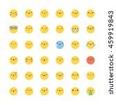 emoji icon vector set. flat... | Shutterstock .eps vector #459919843