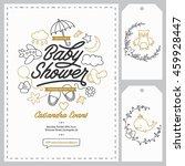 baby shower invitation... | Shutterstock .eps vector #459928447