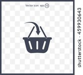 vector shopping basket icon | Shutterstock .eps vector #459930643