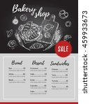hand drawn vector flyer  ... | Shutterstock .eps vector #459933673
