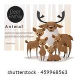 cute animal family background... | Shutterstock .eps vector #459968563