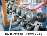 sports dumbbells in fitness... | Shutterstock . vector #459969313