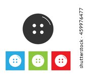 cloth button icon. simple logo... | Shutterstock . vector #459976477