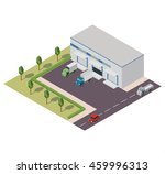 vector isometric warehouse... | Shutterstock .eps vector #459996313