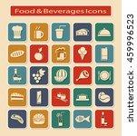 symbols set of food   beverages ... | Shutterstock . vector #459996523