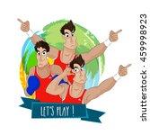 creative illustration of... | Shutterstock .eps vector #459998923