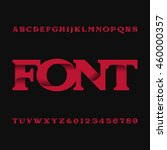 decorative alphabet vector font.... | Shutterstock .eps vector #460000357