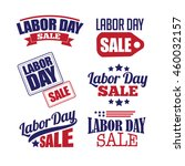 labor day sale text design... | Shutterstock .eps vector #460032157