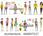 cartoon business people working ... | Shutterstock .eps vector #460047217
