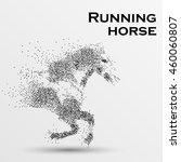 galloping horse particles... | Shutterstock .eps vector #460060807