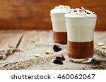 peanut butter chocolate mousse... | Shutterstock . vector #460062067
