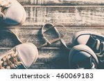 love concept with sneakers on... | Shutterstock . vector #460069183