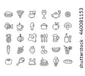 set of food and drinks icons... | Shutterstock . vector #460081153