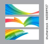 set banners of curved... | Shutterstock .eps vector #460089937