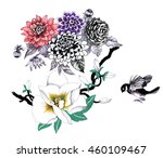 watercolor hand drawn pattern...   Shutterstock . vector #460109467