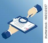 isometric hands shall inspect... | Shutterstock .eps vector #460110157