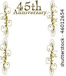 45th anniversary on a solid... | Shutterstock . vector #46012654