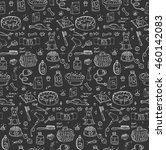 seamless pattern hand drawn... | Shutterstock .eps vector #460142083