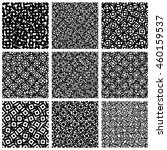 set of 9 pattern with random ... | Shutterstock . vector #460159537