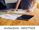 business man pen pointing stock ... | Shutterstock . vector #460177633
