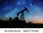 silhouette of oil pump working... | Shutterstock . vector #460179283