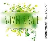 summer sale watercolor... | Shutterstock .eps vector #460179877