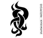tattoo tribal vector designs... | Shutterstock .eps vector #460199143
