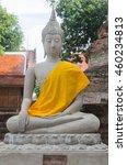 Small photo of Buddha stature in wat, Ayutthaya province.
