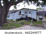 house landing on overturned...   Shutterstock . vector #460244977
