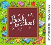banner back to school boy girl... | Shutterstock . vector #460248733
