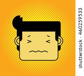 confused face man with halftone ... | Shutterstock .eps vector #460259533