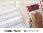 document and notebook monthly... | Shutterstock . vector #460270777