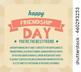 friendship day poster template | Shutterstock .eps vector #460293253