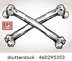 cross bone vector