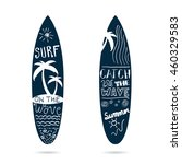 surfboard set textured in blue... | Shutterstock .eps vector #460329583