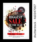 biggest sale of the year  sale... | Shutterstock .eps vector #460347007