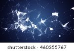 abstract polygonal space blue... | Shutterstock . vector #460355767