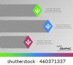 vector infographic bars for... | Shutterstock .eps vector #460371337